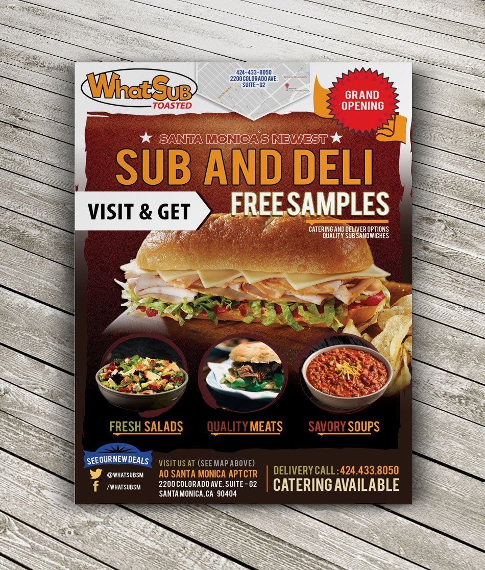 Whatsub Custom Restaurant Flyer Design Ca 5 Made To Be Unique