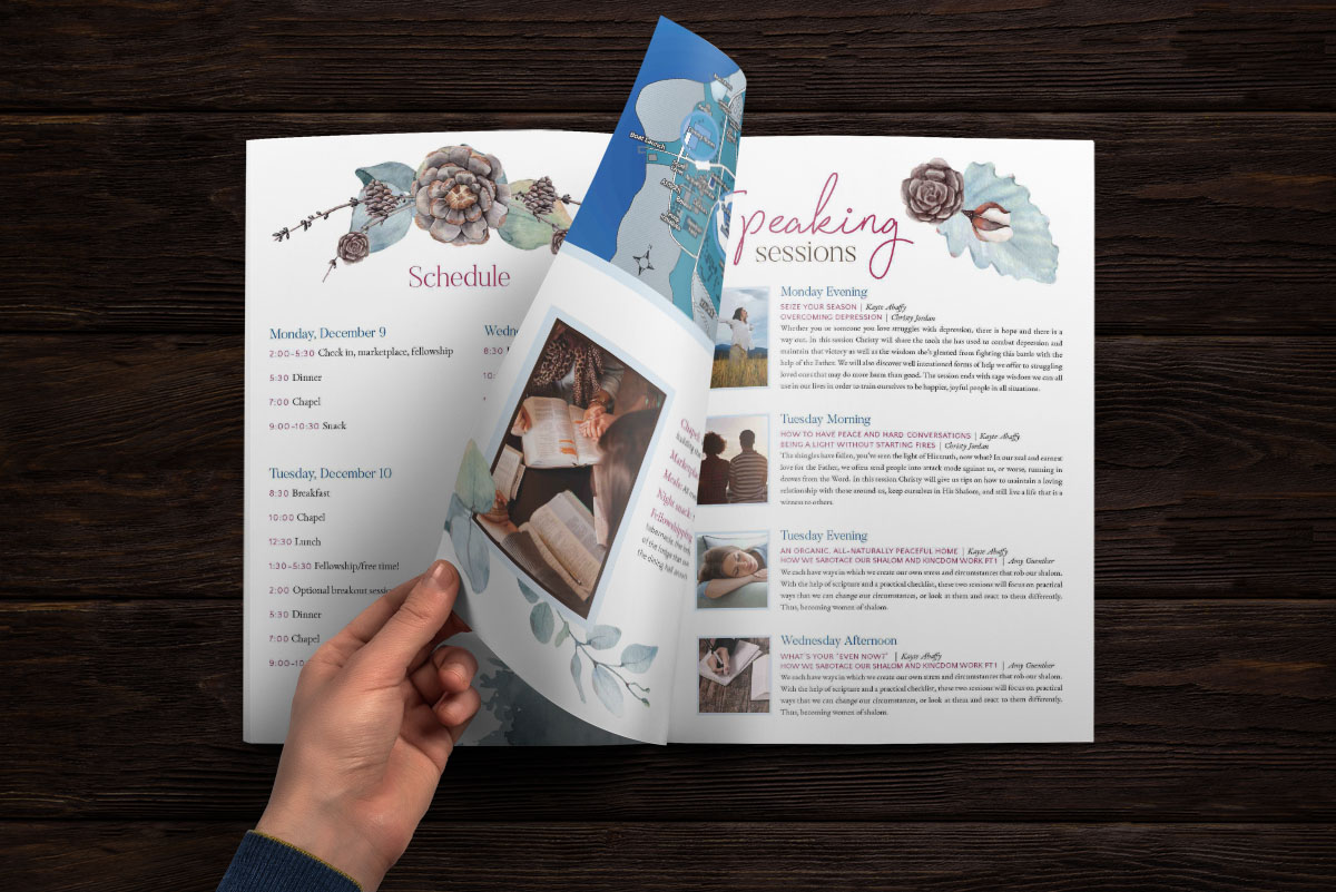 Brochure Design Camp Retreat