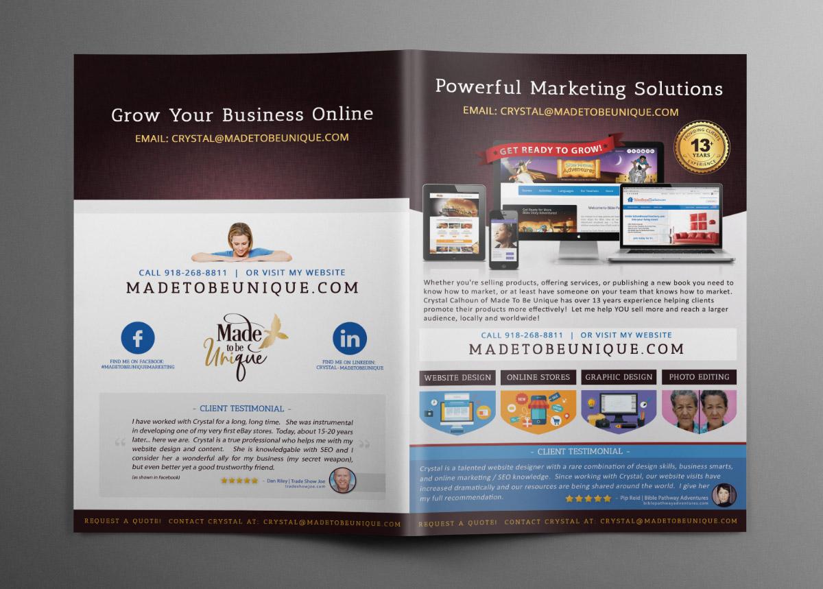 Custom Brochure Design Front and Back