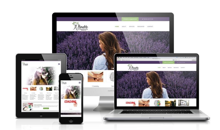 Parable Coaching Website Design